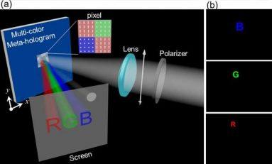 Meta-hologram tayftaki tüm ışık renklerini üretebiliyor