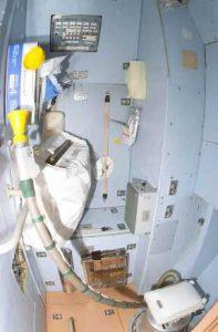 ISS'teki Zvezda Servis Modülü tuvaleti. (Telif:NASA)