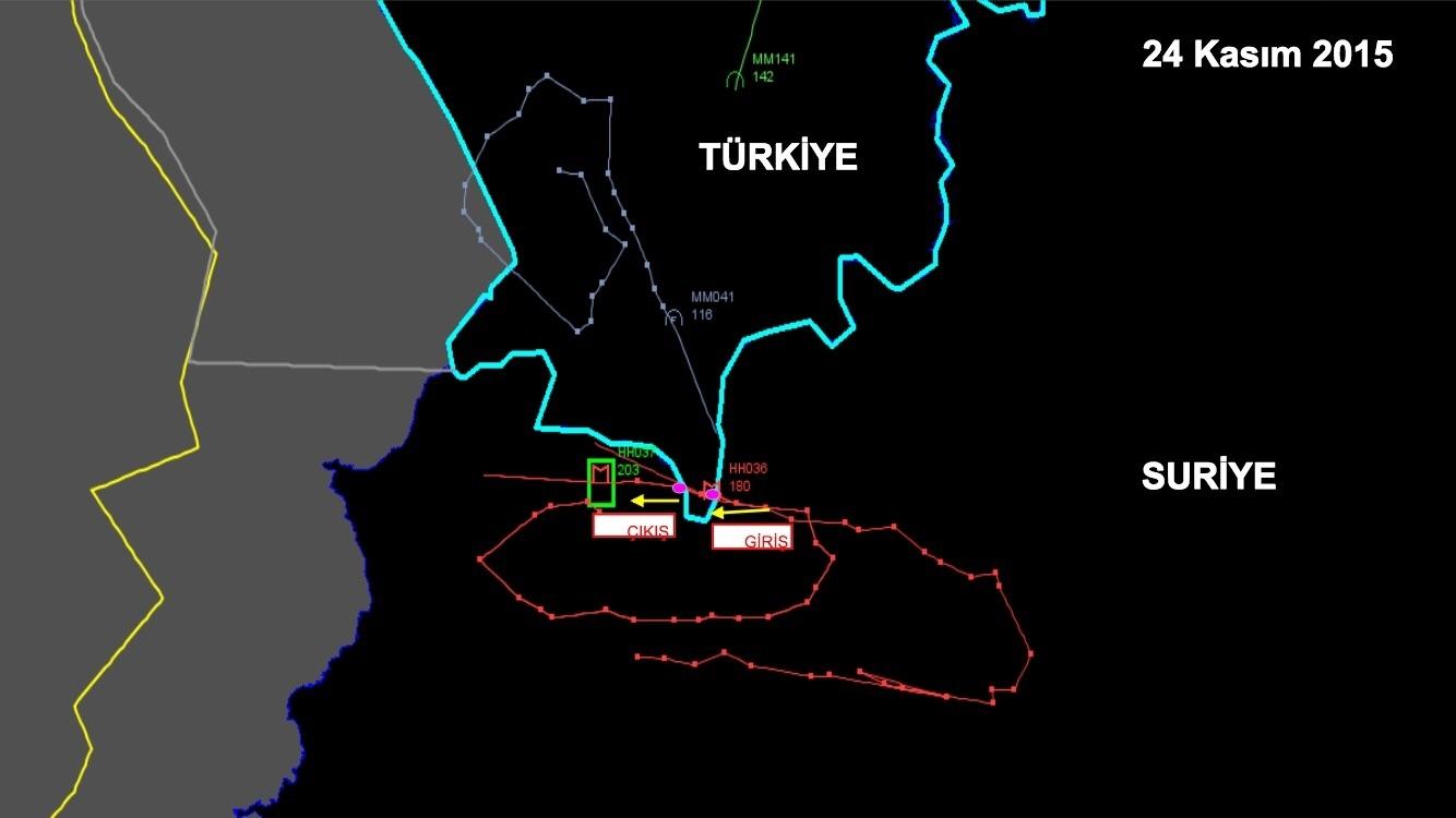 Türkiye'nin sağladığı olaya ilişkin harita