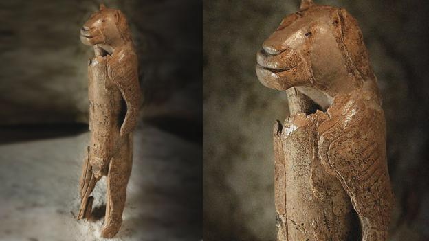 En az 30,000 yıllık, Löwenmensch, olarak adlandırılan heykel (Credit: Heritage Image Partnership Ltd/Alamy)