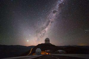 Şili'de bulunan 3.6 metrelik teleskop
