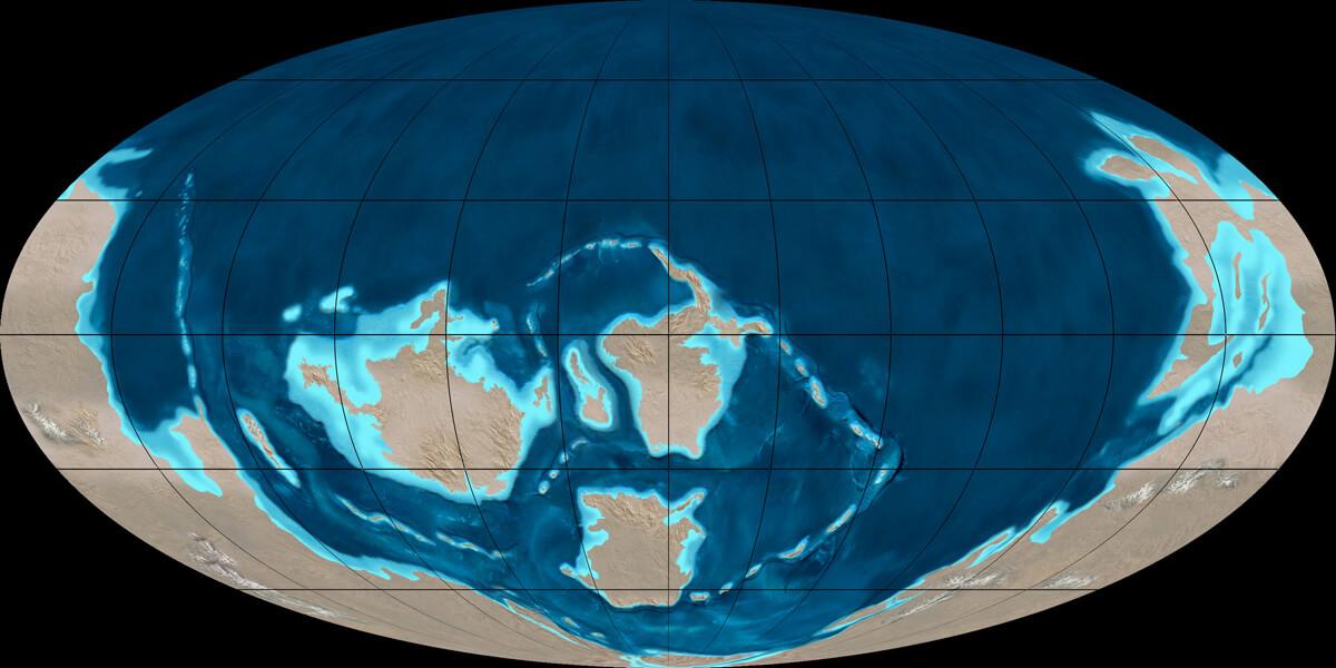 Kambriyen Periyodu başlarında Dünya