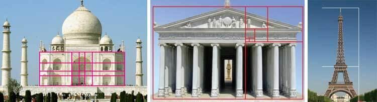Hindistan'da bulunan Taç Mahal, Yunanistan'da bulunan Parthenon, Eyfel