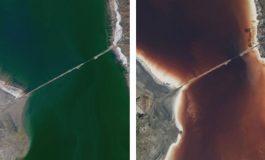 İran'daki Urmiye Gölü'nün Rengi Değişti