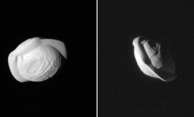 Satürn'ün Uydusu Pan'ın Yakın Görüntüleri