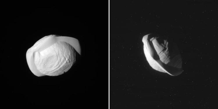 """Uzay Sondası """"Cassini""""den Pan'ın Görüntüleri Geldi"""